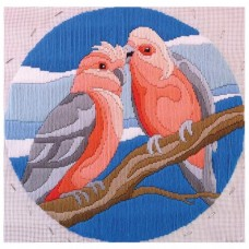 Country Threads Long Stitch Kit - GALAH 28CM ROUND